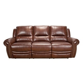 Duke Brown Leather 2-Motion Double Recliner