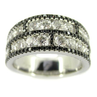 Kabella Luxe 18k White Gold 1 7/8ct TDW White and Black Diamond Ring (H-I, VS1-VS2)