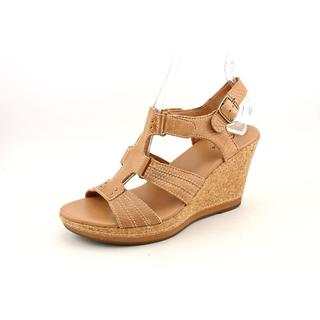 Clarks Women's 'Pitch Carmel' Leather Sandals