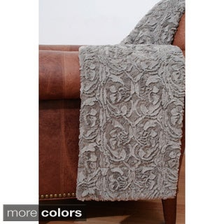 Deena Scroll Faux Fur Throw