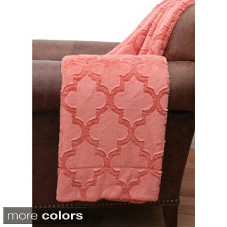 Margo Quatrefoil Faux Fur Throw