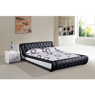 Dorian 2-piece Black and White Modern Bed