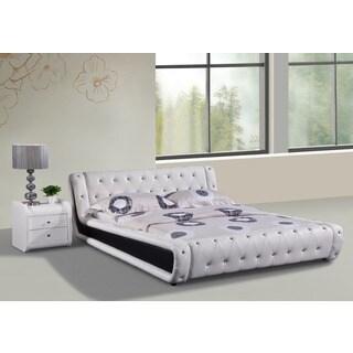 Dorian 2-piece White and Black Modern Bed Set