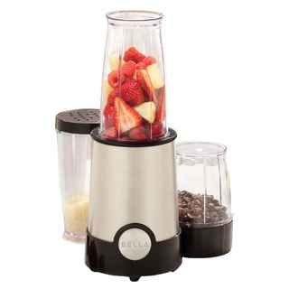Bella 12-piece Chrome/ Black Rocket Blender