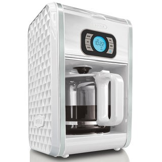 Bella Diamonds White 12-cup Programmable Coffee Maker