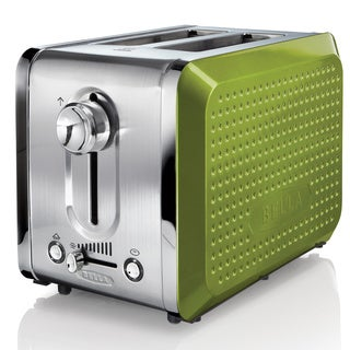 Bella Dots Lime 2-slice Toaster