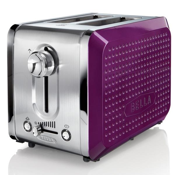 Bella Dots Purple 2-slice Toaster