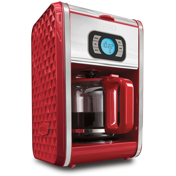 Bella Diamonds Red 12 Cup Programmable Red Coffee Maker