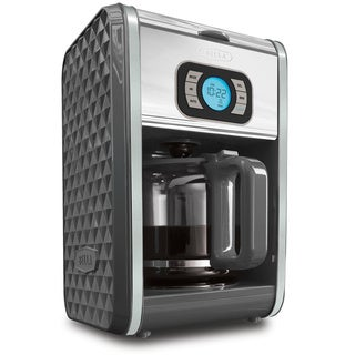 Bella Diamonds Grey 12-cup Programmable Coffee Maker