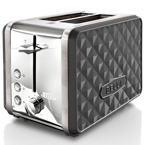 Bella Diamonds Grey 2-slice Toaster