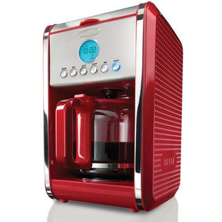 Bella Dots Red 12-cup Programmable Coffee Maker