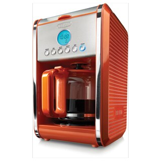 Bella Dots Orange 12-cup Programmable Coffee Maker