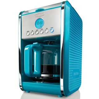 Bella Dots Teal 12-cup Programmable Coffee Maker - 16388937 - Overstock Shopping - Great Deals ...