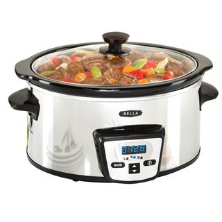 Bella Stainless Steel 5-quart Programmable Slow Cooker
