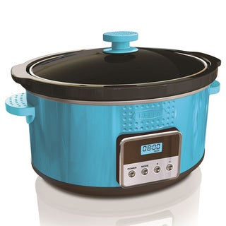 Bella Teal 5-quart Programmable Slow Cooker