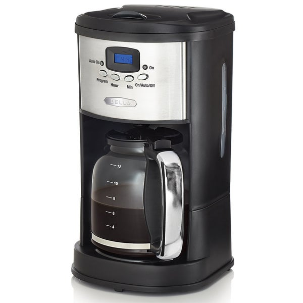 Bella Stainless Steel/ Black 12-cup Programmable Coffee Maker
