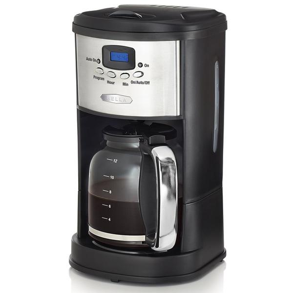 Bella Stainless Steel/ Black 12-cup Programmable Coffee Maker
