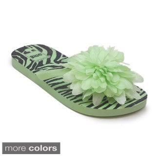 Blue Children's 'K-fola' Flower Flip-flop Sandals