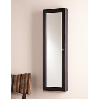 Upton Home Catina Black Wall Mount Jewelry Mirror