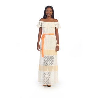 Hadari Women's Off-shoulder Crochet Lace Dress
