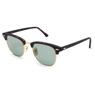 Ray-Ban Clubmaster Polarized Sunglasses 51mm - Tortoise Frame/Polar Green Lens