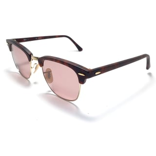Ray-Ban Clubmaster Polarized Sunglasses 49mm - Matte Tortoise Frame/Polar Pink Lens