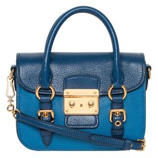 Miu Miu 'Madras' Mini Bicolor Blue Leather Crossbody