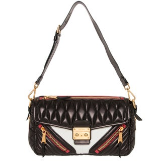 Miu Miu Matelass� Biker Quilted Leather Shoulder Bag
