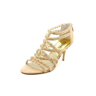 Michael Kors Women's 'Maddie Jeweled T Strap' Leather Sandals (Size 6.5 )