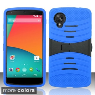 BasAcc With Stand Screen Protector PC Silicone Hybrid Case for Google Nexus 5