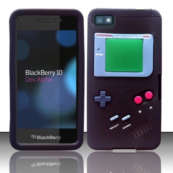 INSTEN 3D Gameboy Soft Silicone Skin Phone Case Cover for Blackberry Z10