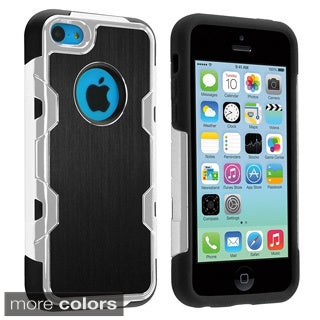 INSTEN High Impact Aluminum PC Soft Silicone Hybrid Phone Case Cover for Apple iPhone 5C