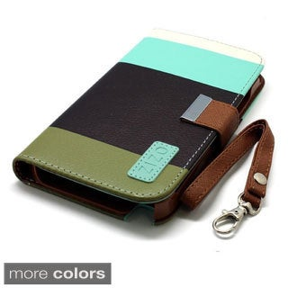 BasAcc Flap Lanyard Wallet PU Leather Case Cover for Apple iPhone 5C