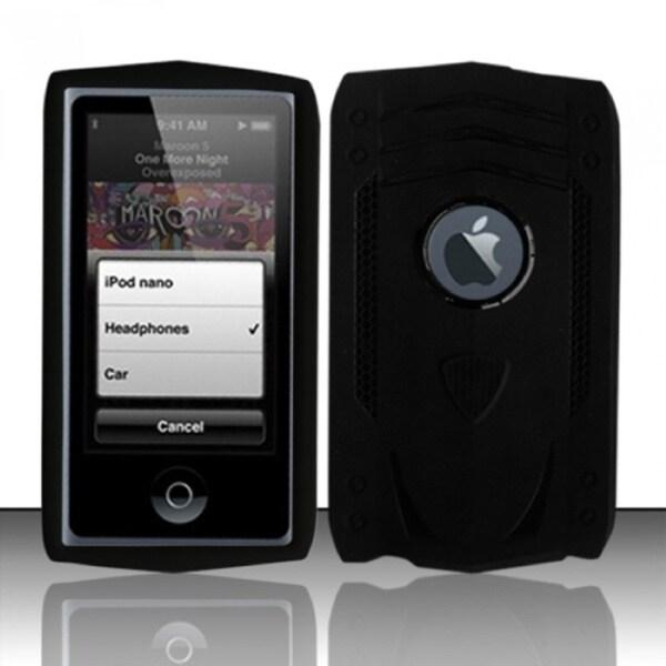 INSTEN Tank TPU Rubber iPod Case Cover for Apple iPod nano 7th