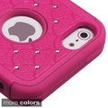 INSTEN PC Soft Silicone Dual-hybrid Phone Case with Diamond for Apple iPhone 5/ 5S