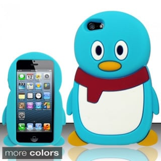INSTEN 3D Penguin Cartoon Soft Silicone Skin Phone Case Cover for Apple iPhone 5/ 5S