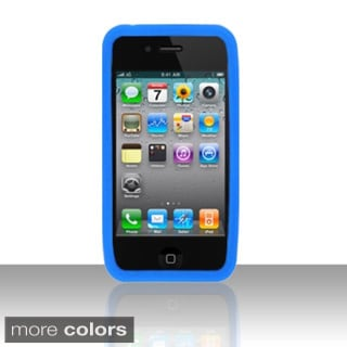 BasAcc Colorful Soft Silicone Rubber Skin Case Cover for Apple iPhone 4/ 4S
