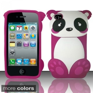 INSTEN 3D Baby Panda Bear Soft Silicone Skin Phone Case Cover for Apple iPhone 4/ 4S