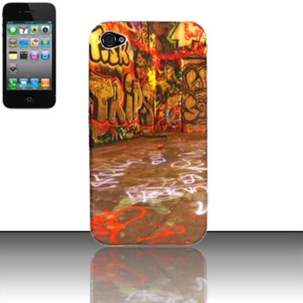 INSTEN Graphiti Design TPU Rubber Gel Phone Case Cover for Apple iPhone 4/ 4S
