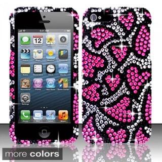 BasAcc Bling Full Diamond Pattern Snap-on Hard Case Cover for Apple iPhone 5/ 5S