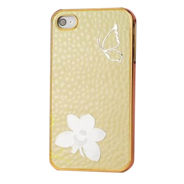 INSTEN Bling Spotted Diamond Chrome Side Hard Plastic Phone Case Cover for Apple iPhone 4/ 4S