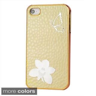 INSTEN Bling Spotted Diamond Chrome Side Hard Plastic Phone Case Cover for Apple iPhone 4/ 4S