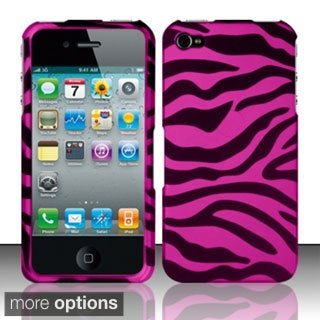 INSTEN Pattern Design Rubberized Hard Plastic Phone Case Cover for Apple iPhone 4/ 4S