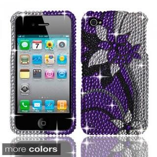 INSTEN Bling Full Diamond Pattern Snap-on Hard Plastic Phone Case Cover for Apple iPhone 4/ 4S