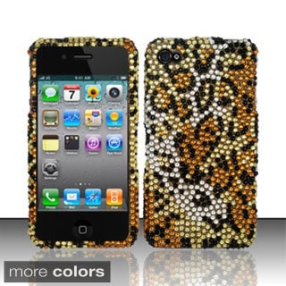 BasAcc Bling Full Diamond Pattern Snap-on Hard Case Cover for Apple iPhone 4/ 4S