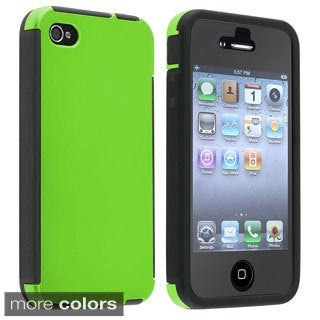 BasAcc High Impact PC Silicone Dual Hybrid Case Cover for Apple iPhone 4/ 4S
