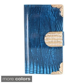 BasAcc Diamond Flap Wallet PU Leather Case Cover for Apple iPhone 4/ 4S