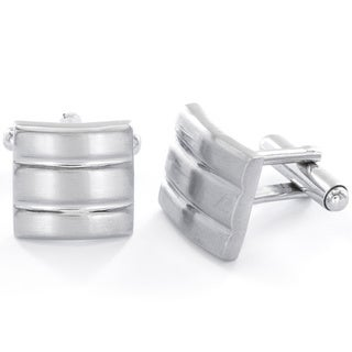 Stainless Steel Men's Brushed/ Polished Cuff Links