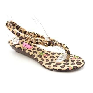 Betsey Johnson Women's 'Kinkki' Fabric Sandals (Size 9.5 )