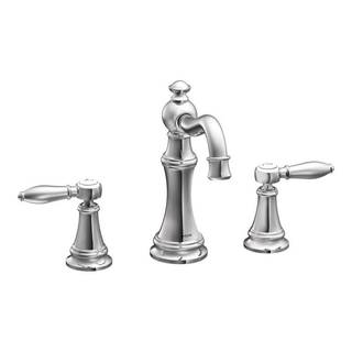 Moen Weymouth Chrome Two-handle High Arc Bathroom Faucet